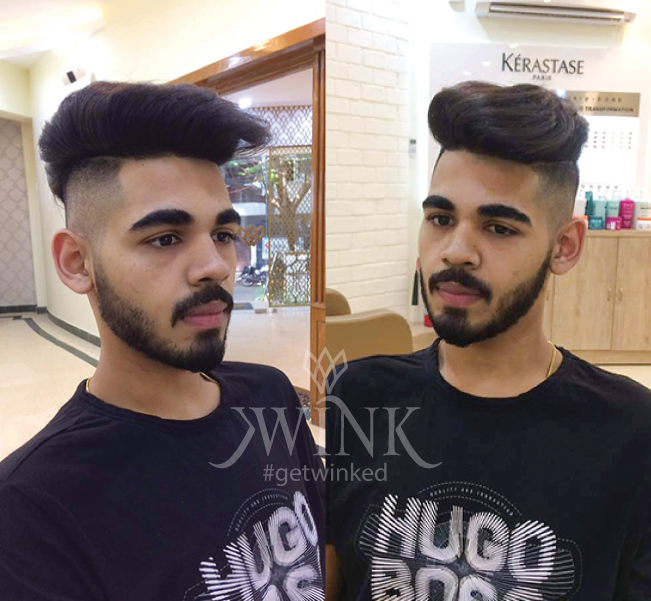 High Fade Pomp Hairstyle