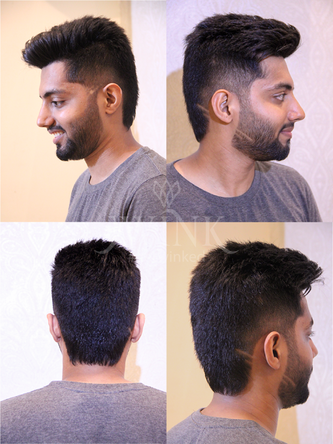 Pompadour with high fades haircut for men