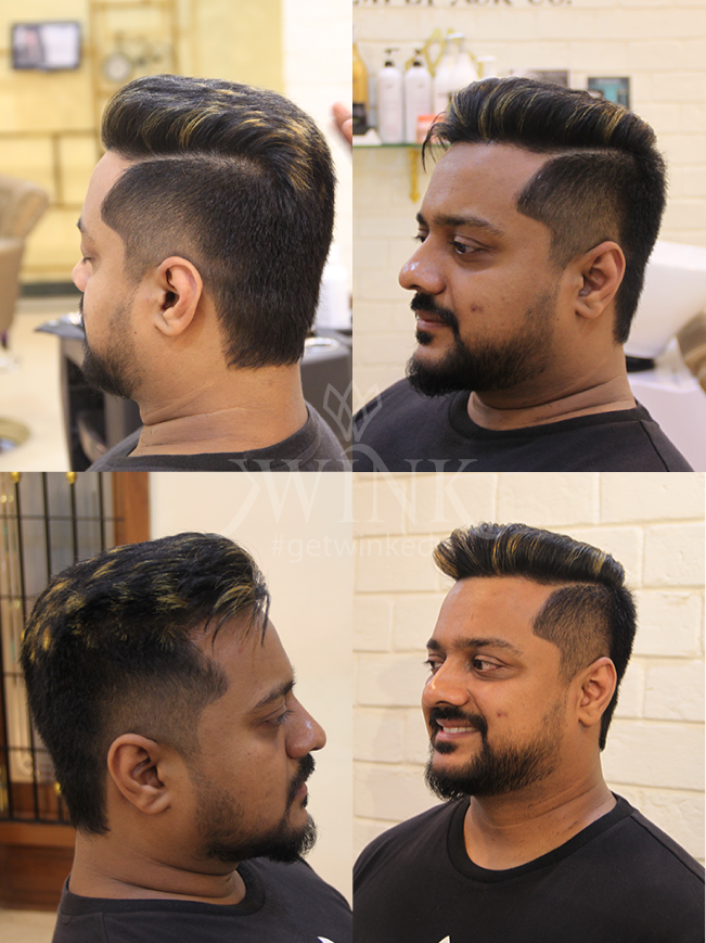 Simple side partition haircut for men