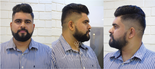 Slick spikes with high fades Hairstyle