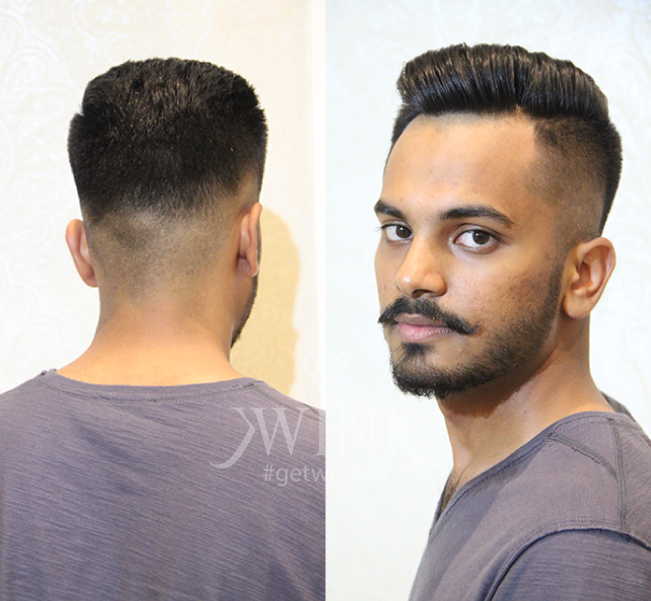 short haircut for well maintained moustache