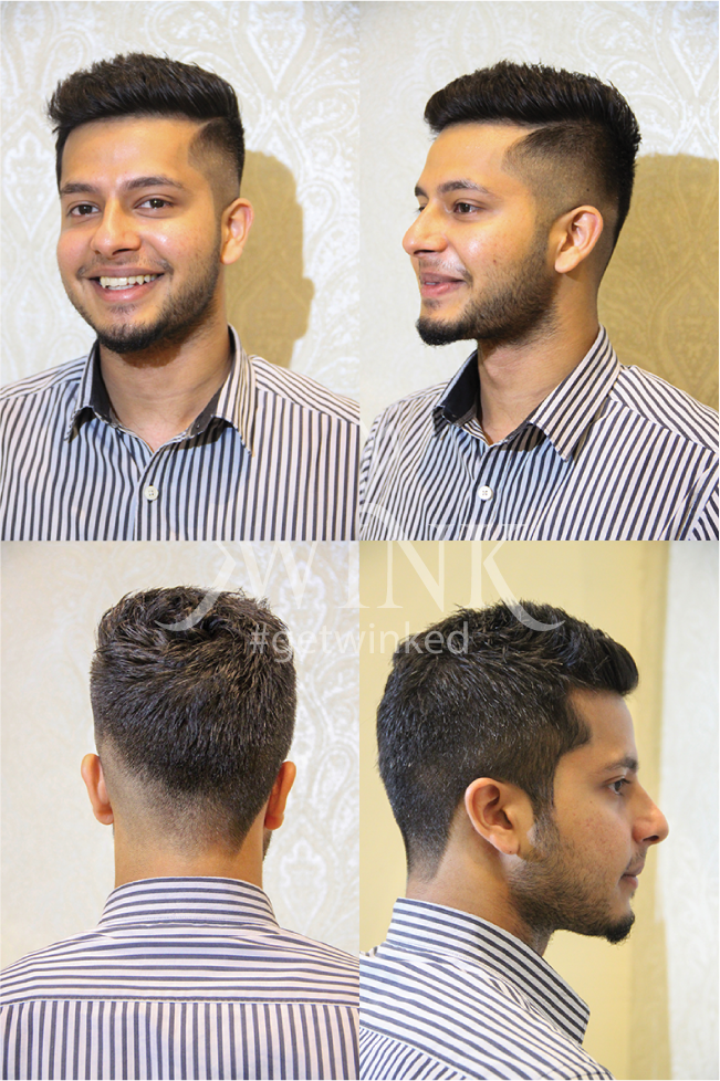 short spikes haircut with low trimmed sides