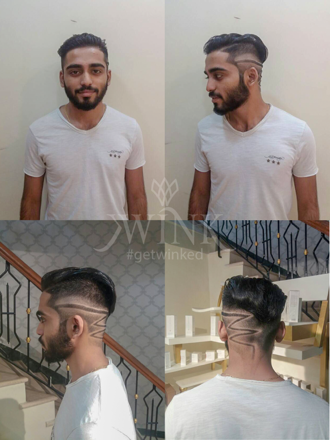 slick sides with partition hairstyle for men