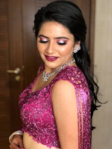 Fabulous Fuchsia - Bridal Hairstyle Designs