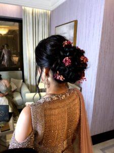 Floral bun - Bridal Hairstyle Designs
