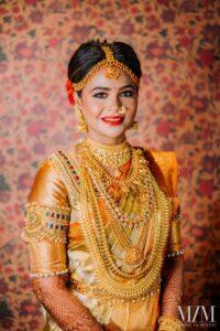 Golden Glam - Bridal Hairstyle Designs