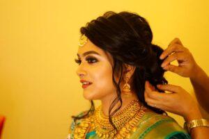 The Golden Aura - Bridal Hairstyle Designs