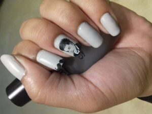 FLAUNT THE STACHE - Nail Art Designs For Chennai Lovers