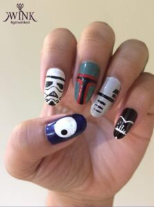 HAVE THE FORCE WITH YOU - Nail Art Designs For Chennai Lovers