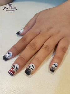 STRAIGHT OUT OF THE MEMORY LAND - Nail Art Designs For Chennai Lovers
