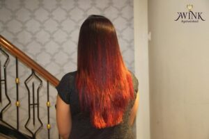 A fiery look- Hair Coloring Styles For Women