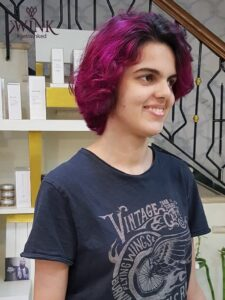 A little pink, a full bob - Hair Coloring Styles For Women
