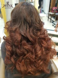 Feathered waves - Hair Coloring Styles For Women