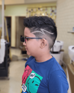Pompadour with a medium fade undercut - Hairstyles For Kids